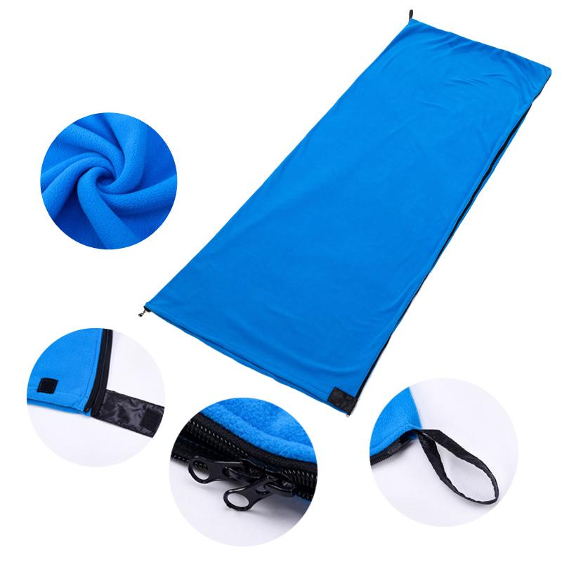 Portable Ultra-Light Fleece Sleeping Bag