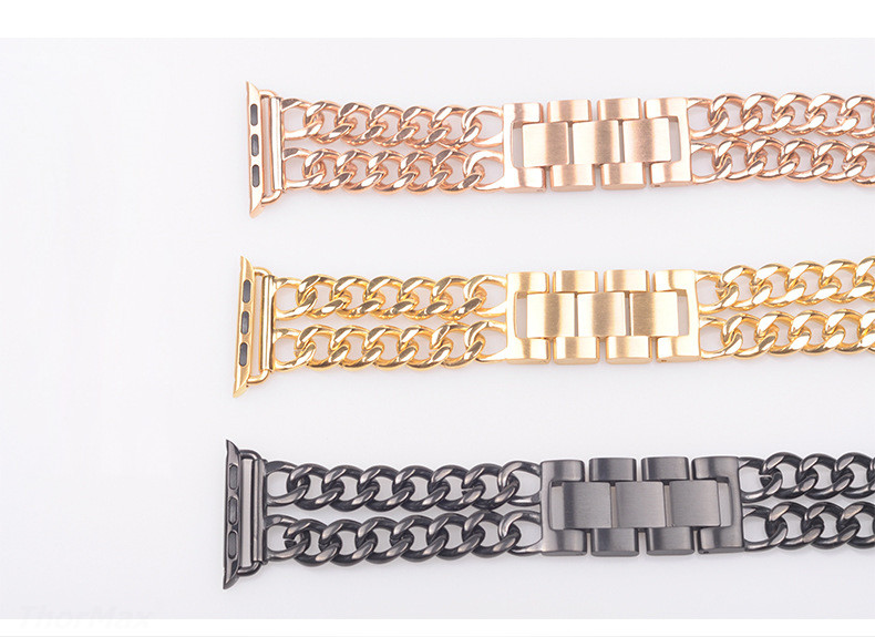 Stainless Steel Double Chain Band for Apple Watch