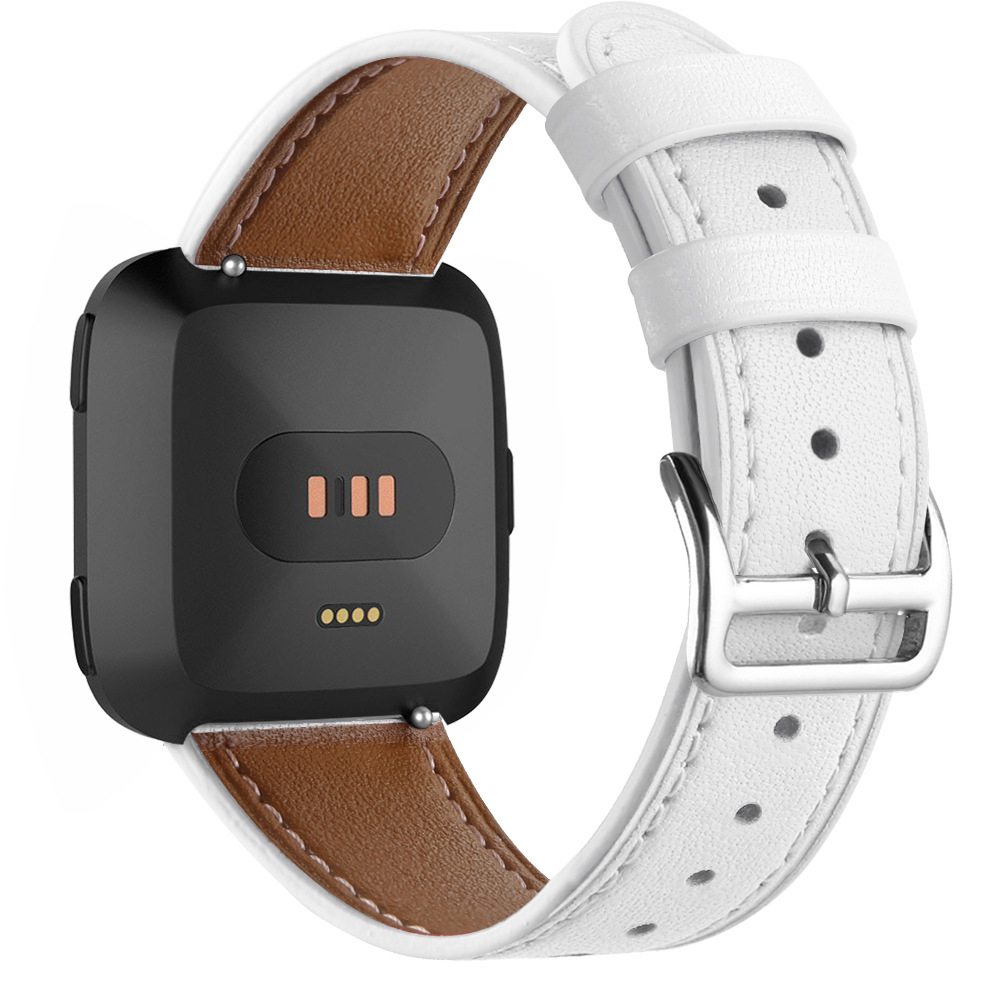 Sweatproof Leather Band for FitBit Versa
