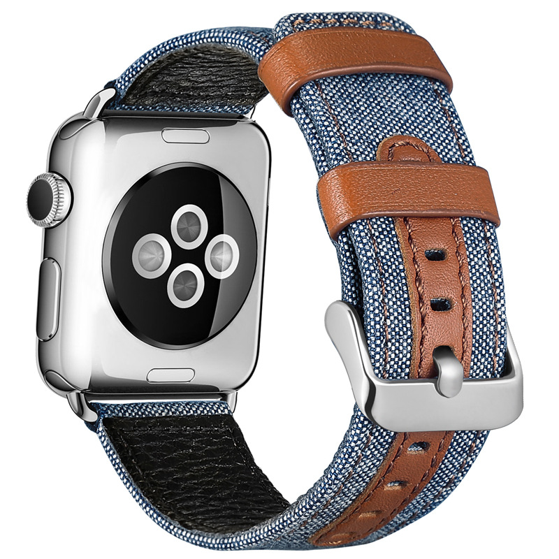 Fashion Cloth and Leather Band for Apple Watch