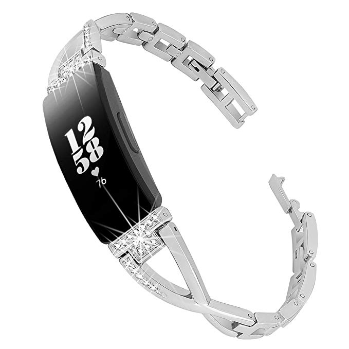 Women's Rhinestone Patterned Band for FitBit Inspire