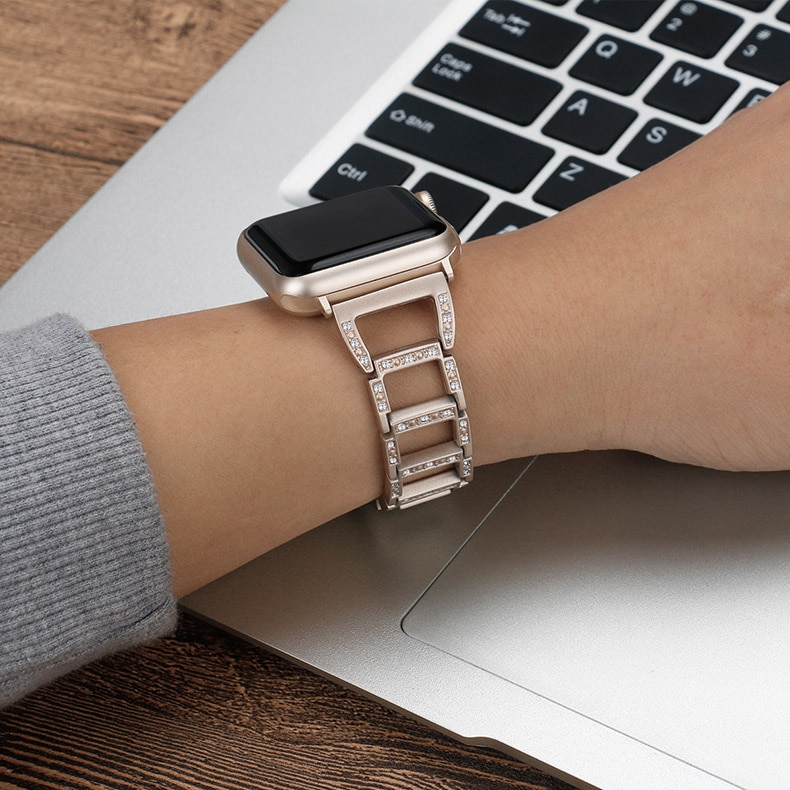 D-Shaped Chain Band for Apple Watch