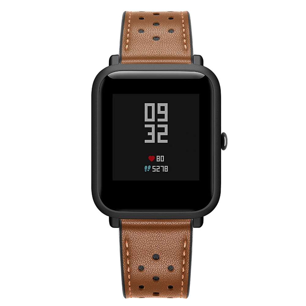Ventilated Leather Band for Xiaomi Huami Amazfit Bip