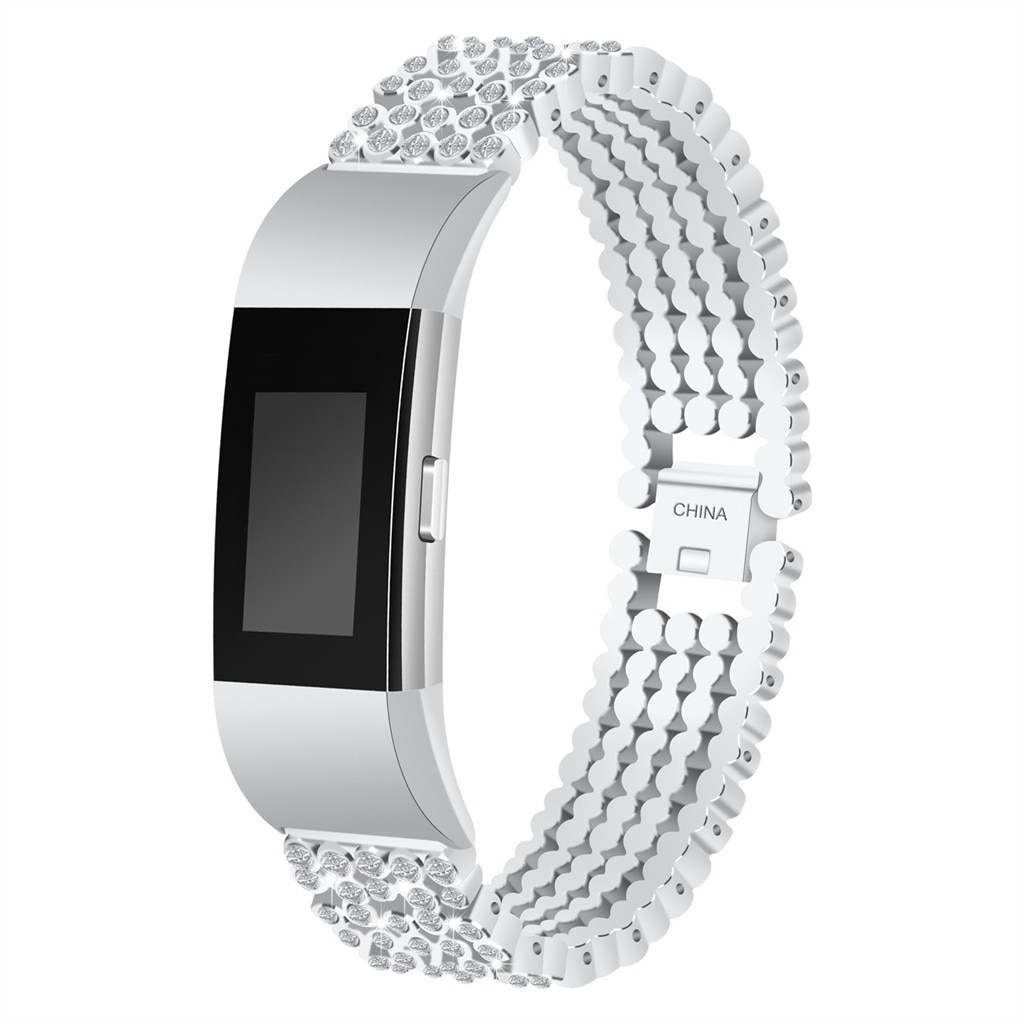 Women's Rhinestone Bracelet Band for FitBit Charge 2