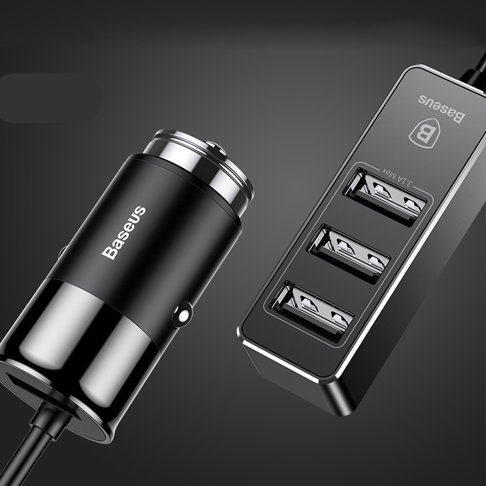4 USB Car Charger Adapter