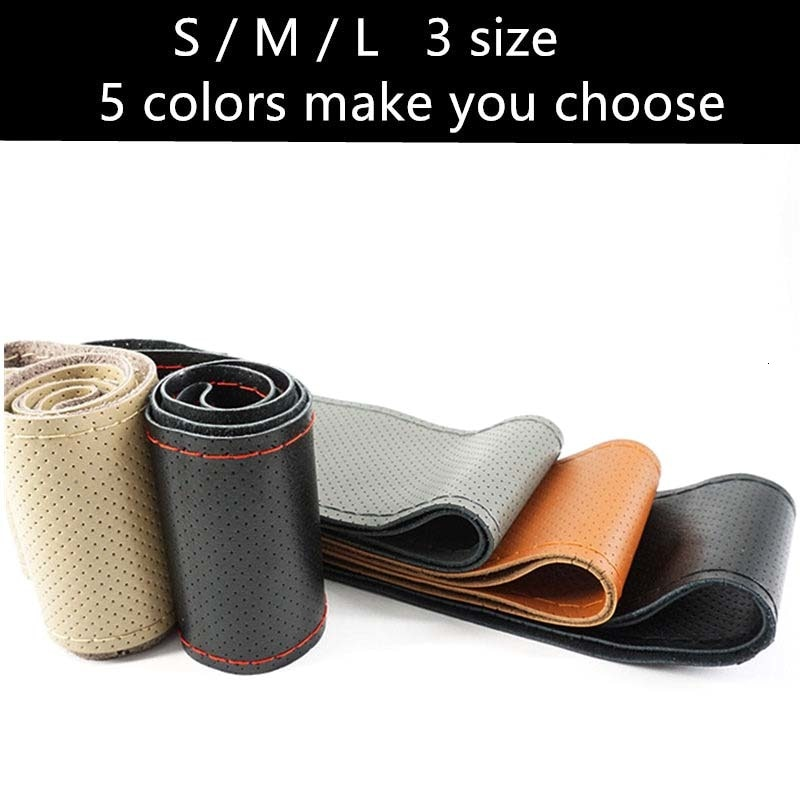 Genuine Leather Soft Anti Slip Car Wheel Cover
