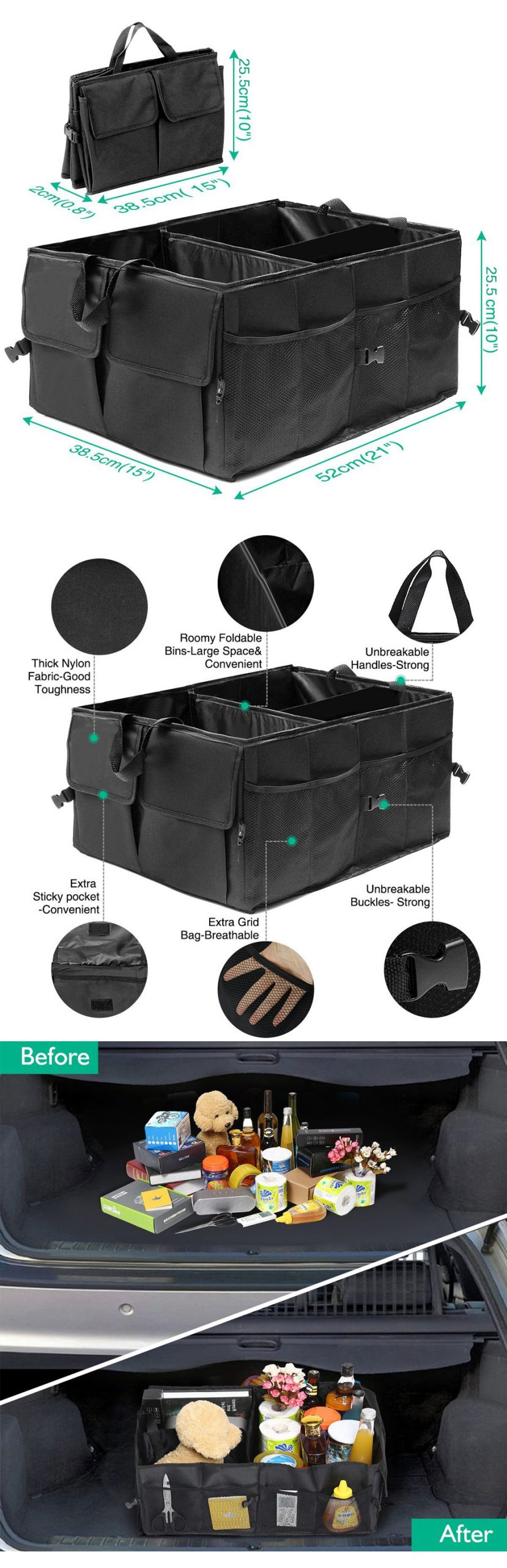 Eco Friendly Super Strong Organizer Box for Cars