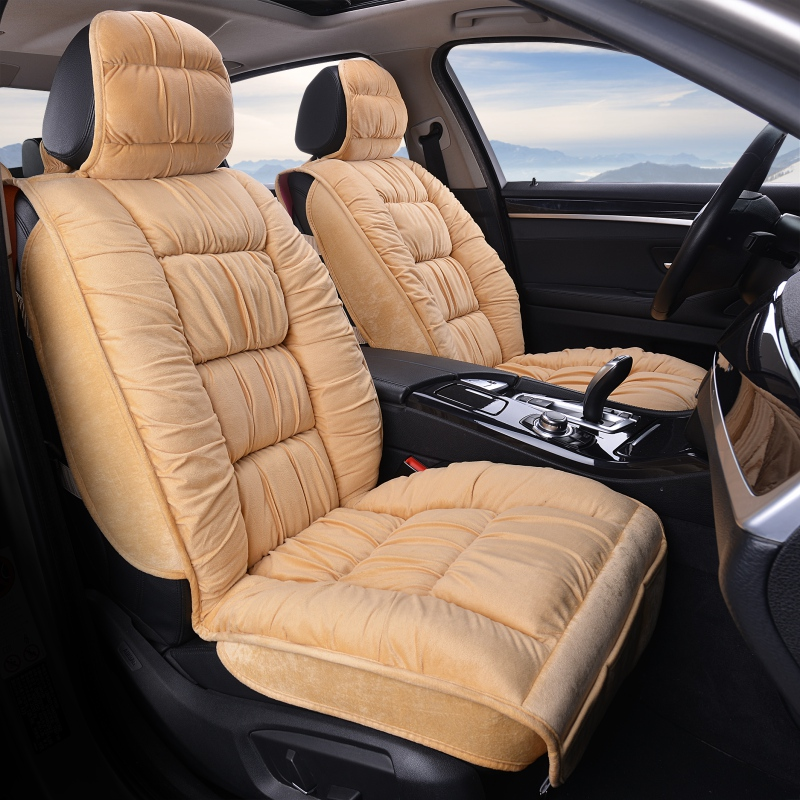 Winter Plush Car Seat Cover