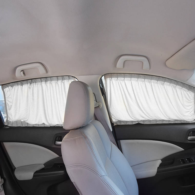 Elastic Car Slide Curtains 2 pcs Set