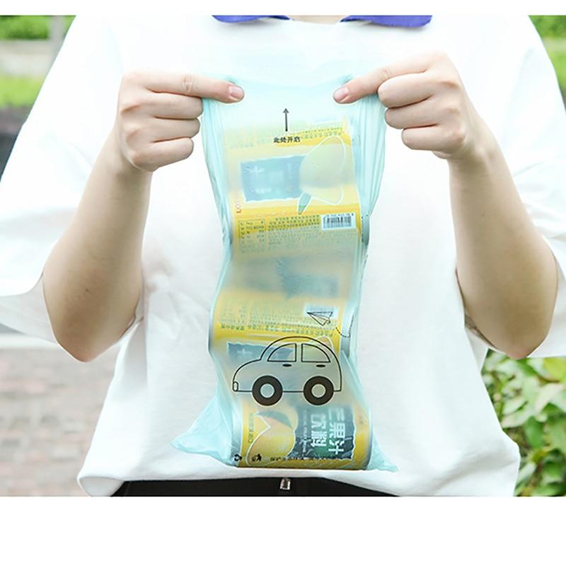 Biodegradable Self-Adhesive Disposable Car Trash Bags 50 pcs Set