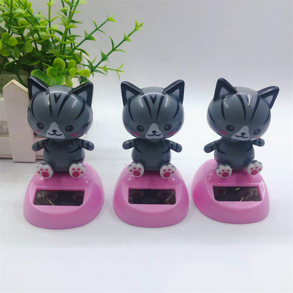 Solar Dancing Cat Car Toy